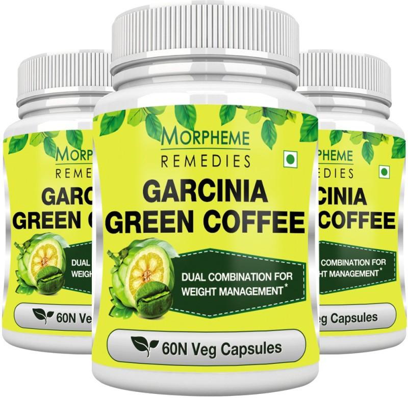 Morpheme Remedies Garcinia Green Coffee 500mg Extract (Pack of 3) Multi Vitamin(180 No)