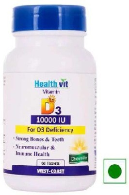 Healthvit Vitamin D3 10000 IU