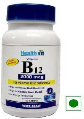 Healthvit Vitamin B12 2000 mcg