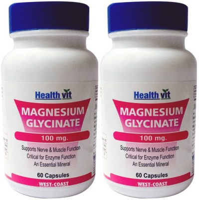Healthvit Magnesium Glycinate 100 mg (Pack of 2)
