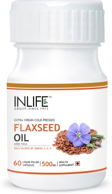 Inlife Flaxseed Extra Virgin Cold Pressed Oil for Joint Pain