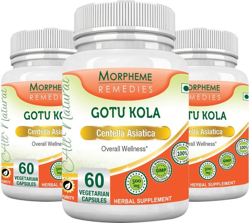 Morpheme Remedies Gotu Kola 500 mg (Pack of 3) Multi Vitamin(180 No)