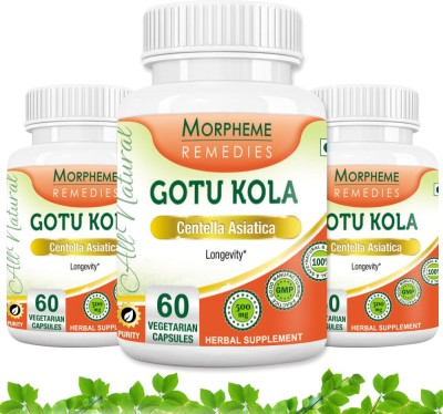 Morpheme Remedies Gotu Kola 500 mg (Pack of 3)