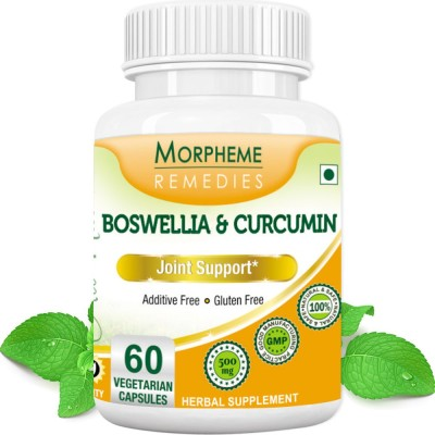 Morpheme Remedies Boswellia & Curcumin 500 mg