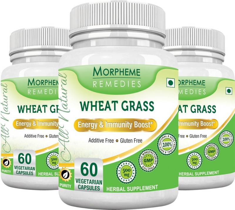 Morpheme Remedies Wheat Grass 500 mg (Pack of 3) Multi Vitamin(180 No)