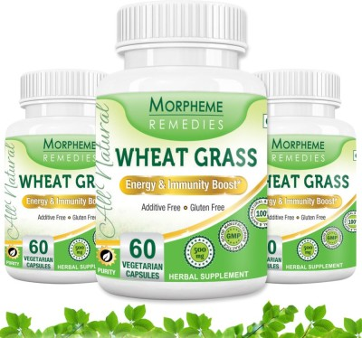 Morpheme Remedies Wheat Grass 500 mg (Pack of 3)