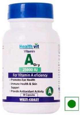 Healthvit Vitamin A Dry 25000 IU