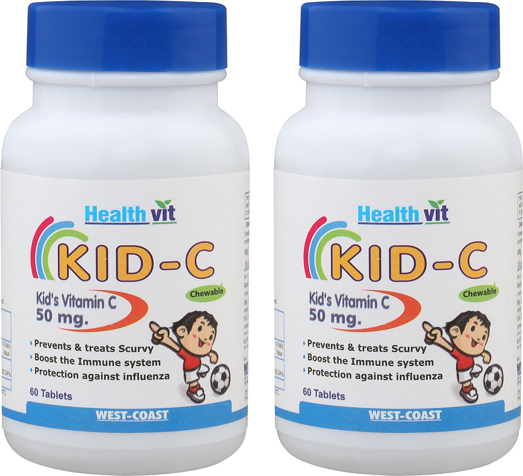 Healthvit Kid-C (Chewable) 50 mg Pack of 2 Multi Vitamin