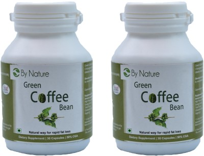 By Nature Green Coffee Bean Capsules (Pack of 2)