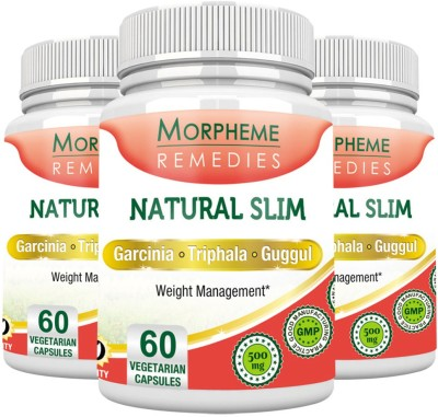 Morpheme Remedies Natural Slim (Garcinia, Triphala, Guggul) Pack of 3