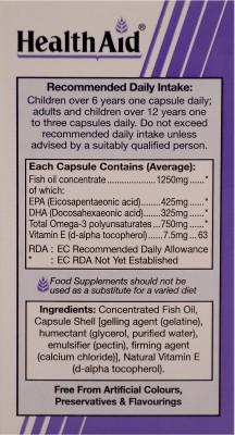 HealthAid Omega - 3 750 mg