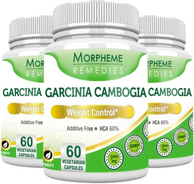 Morpheme Remedies Garcinia Cambogia - HCA 60% 500 mg (Pack of 3)