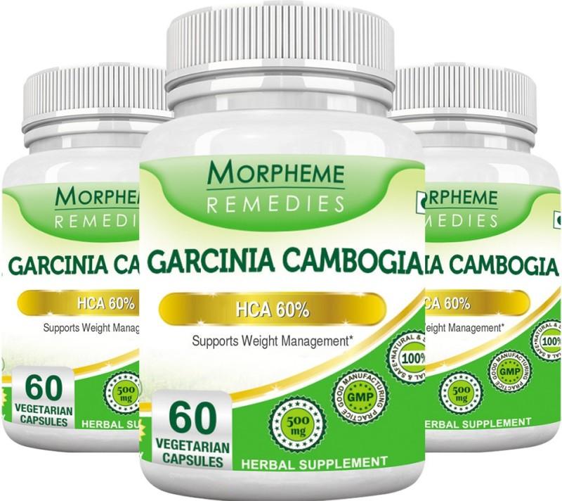 Morpheme Remedies Garcinia Cambogia - HCA 60% 500 mg (Pack of 3) Multi Vitamin(180 No)