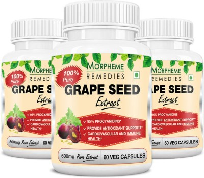 Morpheme Remedies Grape Seed Extract 500 mg (Pack of 3)