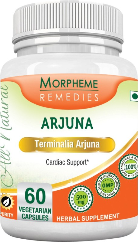 Morpheme Remedies Terminalia Arjuna 500mg Extract Multi Vitamin(60 No)