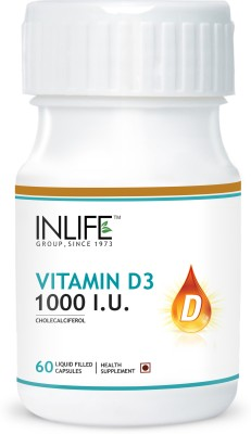 Inlife Vitamin D3 (Cholecalciferol) 1000 I. U. for Bone Health
