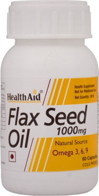 HealthAid Flax Seed Oil 1000mg (Omega 3, 6, 9)