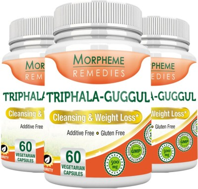 Morpheme Remedies Triphala Guggul 500 mg (Pack of 3)