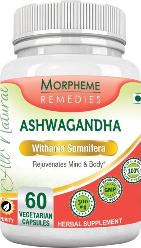 Morpheme Remedies Ashwagandha (Withania somnifera) 500mg Extract Multi Vitamin(60 No)