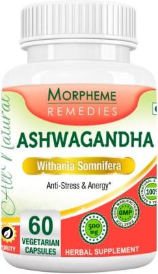 Morpheme Remedies Ashwagandha (Withania somnifera) 500mg Extract