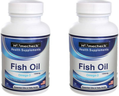 Homecheck Fish Oil Omega-3 1000 mg (Pack of 2)