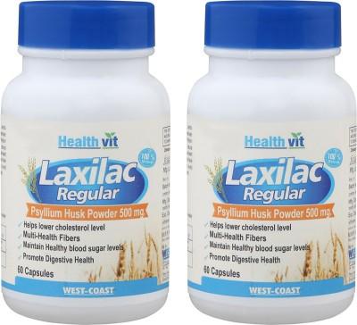 Healthvit Laxilac Regular (Psyllium Husk Powder)Pack of 2