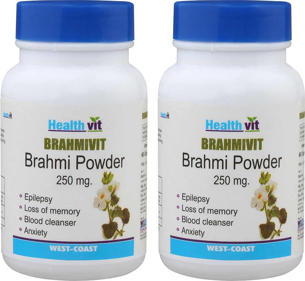 Healthvit Brahmivit Brahmi Powder 250 mg (Pack of 2) Multi Vitamin