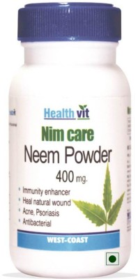 Healthvit NEEMCARE Neem Powder 400 mg 60 Capsules For Skin Care(60 No)