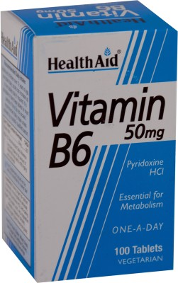 HealthAid Vitamin B6 (Pyridoxine HCl) 50 mg