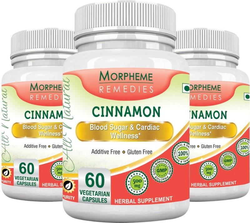 Morpheme Remedies Cinnamon 500 mg (Pack of 3) Multi Vitamin(180 No)