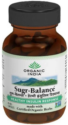 Organic India Sugr Balance 60 Capsules Bottle Multi Vitamin(100 g)