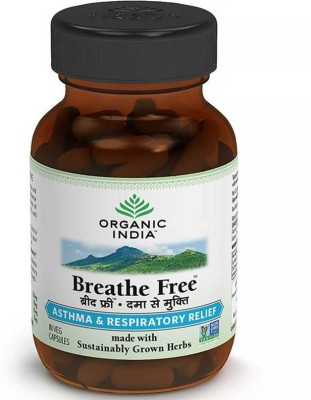 Organic India Breathe Free 60 Capsules Bottle Multi Vitamin(100 g)