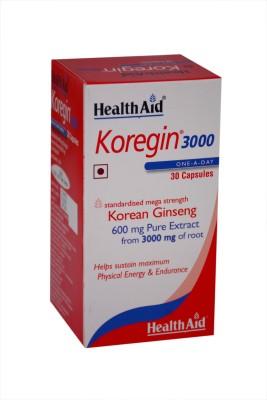 HealthAid Koregin 3000 (Korean Ginseng 600mg)