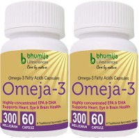 Bhumija Lifesciences Omega3 Fatty Acids (Omeja3) Capsules 60's(2 No)