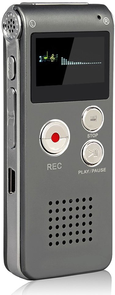 Technogeek 602 8 GB Voice Recorder(1 inch Display)