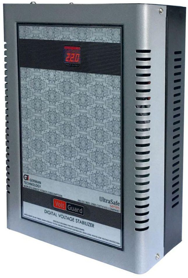 View VOLTGUARD VGL 4170 SB DIGITAL AC VOLTAGE STABILIZER(SILVER BLACK) Home Appliances Price Online(VOLTGUARD)