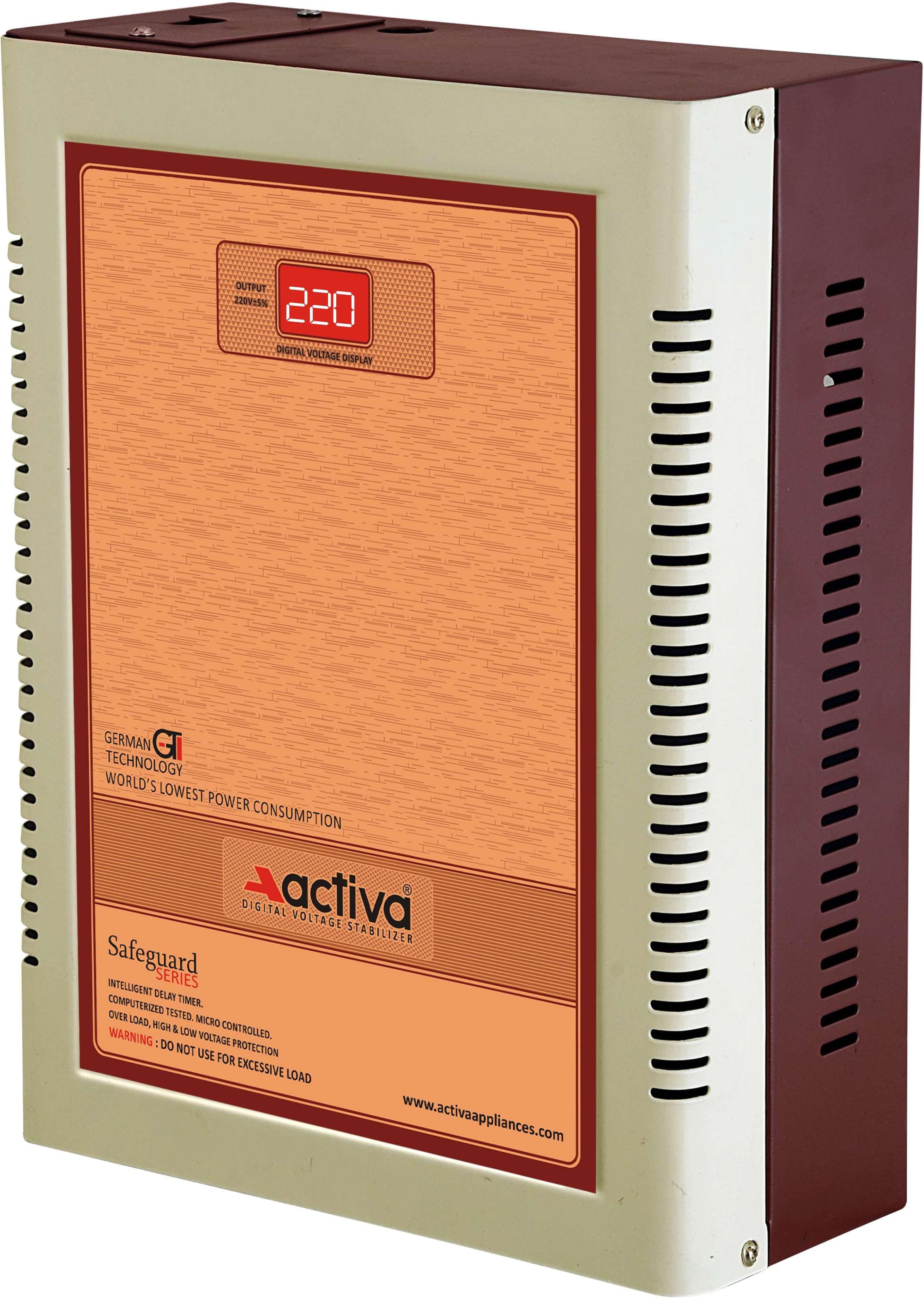 ACTIVA 4 KVA /140-290V DIGITAL AC VOLTAGE STABILIZER(IVORY-BROWN)