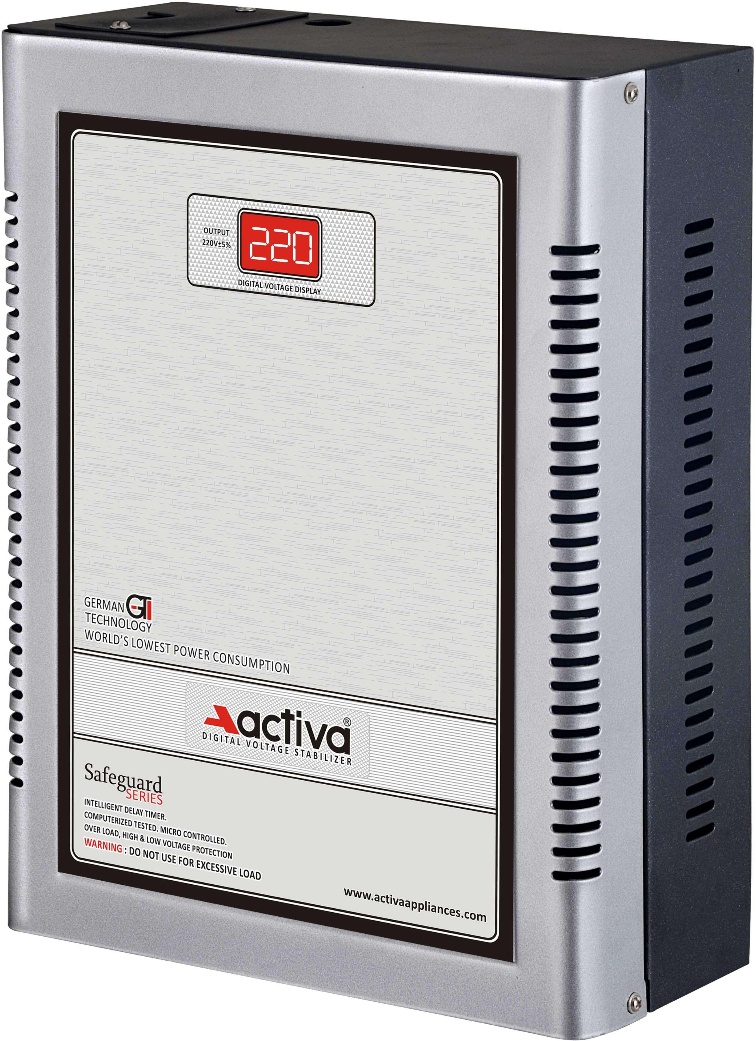 ACTIVA 4 KVA /140-300V DIGITAL AC VOLTAGE STABILIZER(SILVER-BLACK)