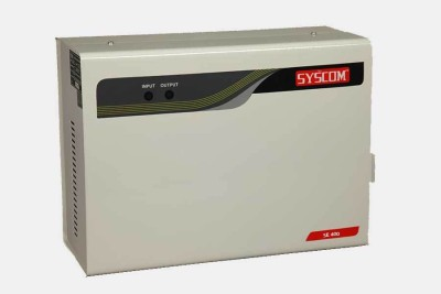 Syscom SE-400 Voltage Stabilizer(White)