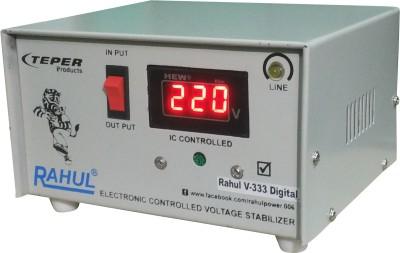 Rahul V-333 c Digital 600 VA/2 AMP 100-290 Volt 1 Refrigerator 90 Ltr to 185 Ltr 5 Step Auto Matic Digital Voltage Stabilizer Digital Auto Matic Stabilizer(White)
