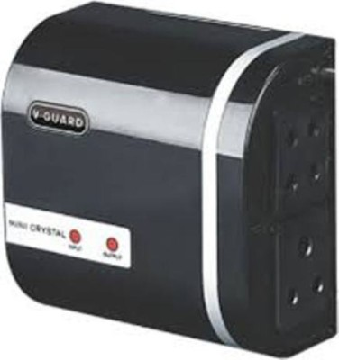 V-Guard Mini Crystal With 3 Pin Socket Voltage Stabilizer(Black)