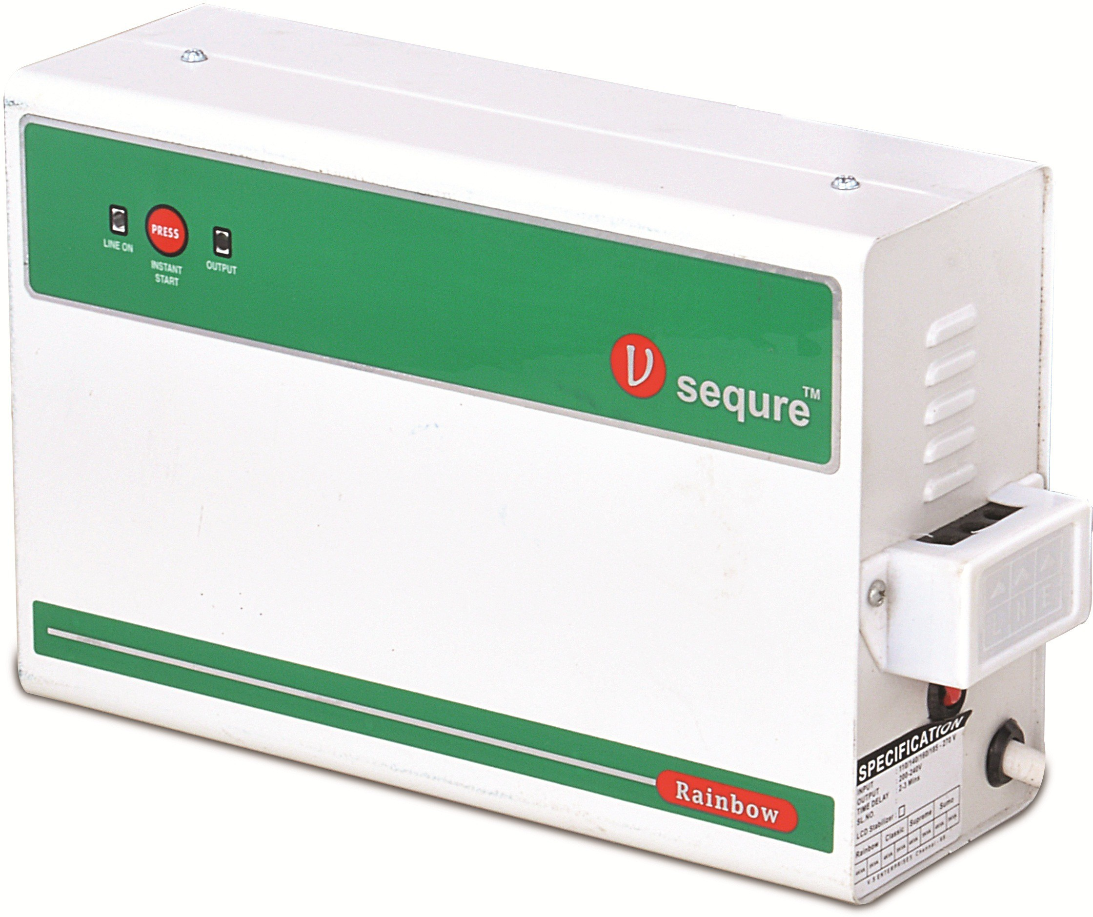 View v-sequre 85904588 voltage stabilizer(green, white) Home Appliances Price Online(v-sequre)