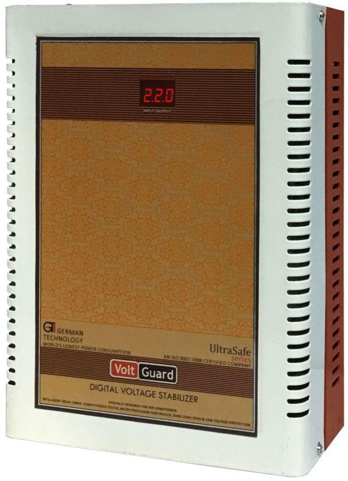 View VOLTGUARD VGL 4170 IB DIGITAL AC VOLTAGE STABILIZER(IVORY BROWN) Home Appliances Price Online(VOLTGUARD)