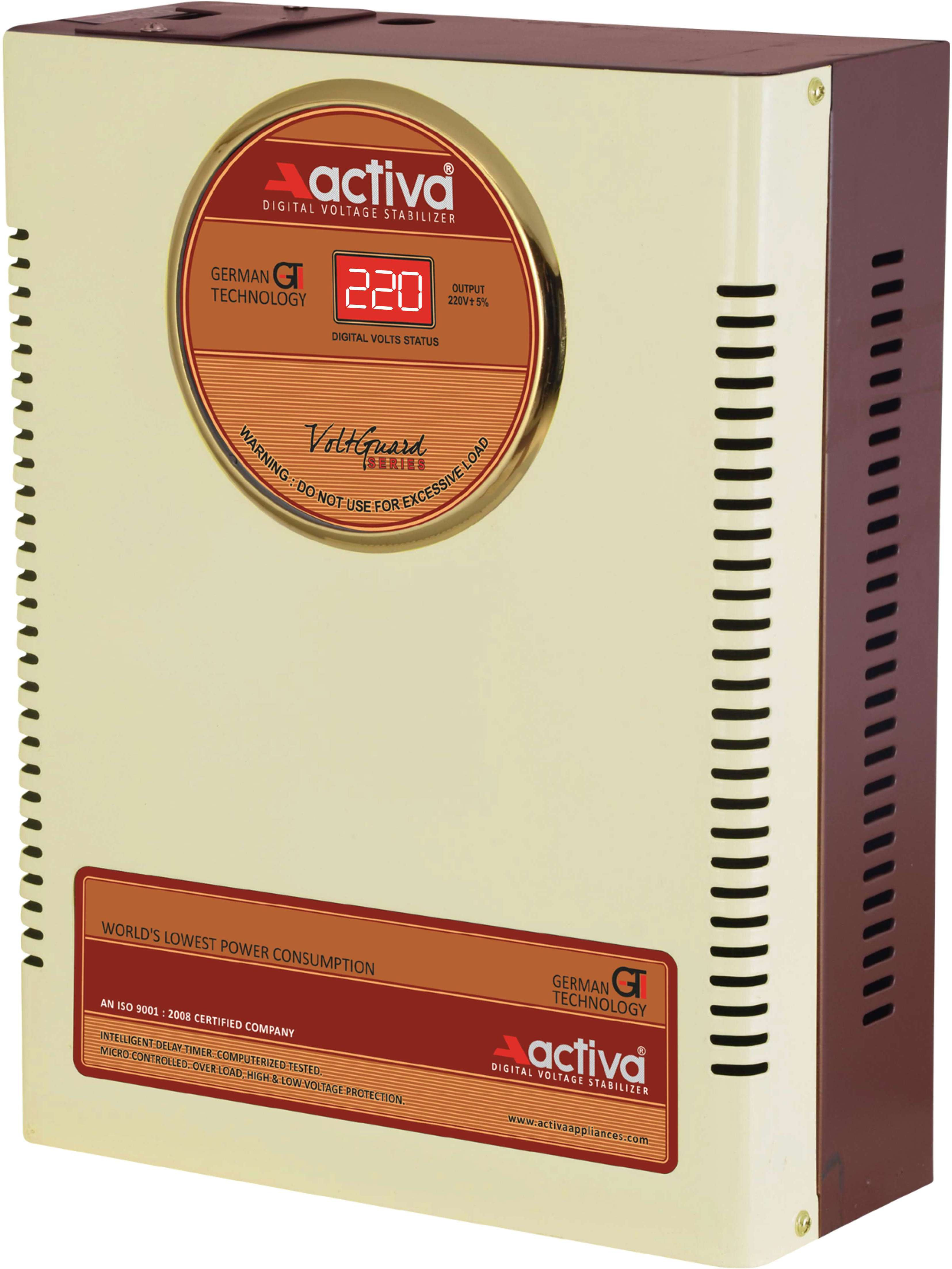 ACTIVA 4 KVA /140-300 VOLTS IVORY-BROWN DIGITAL AC VOLTAGE STABILIZER(IVORY-BROWN)