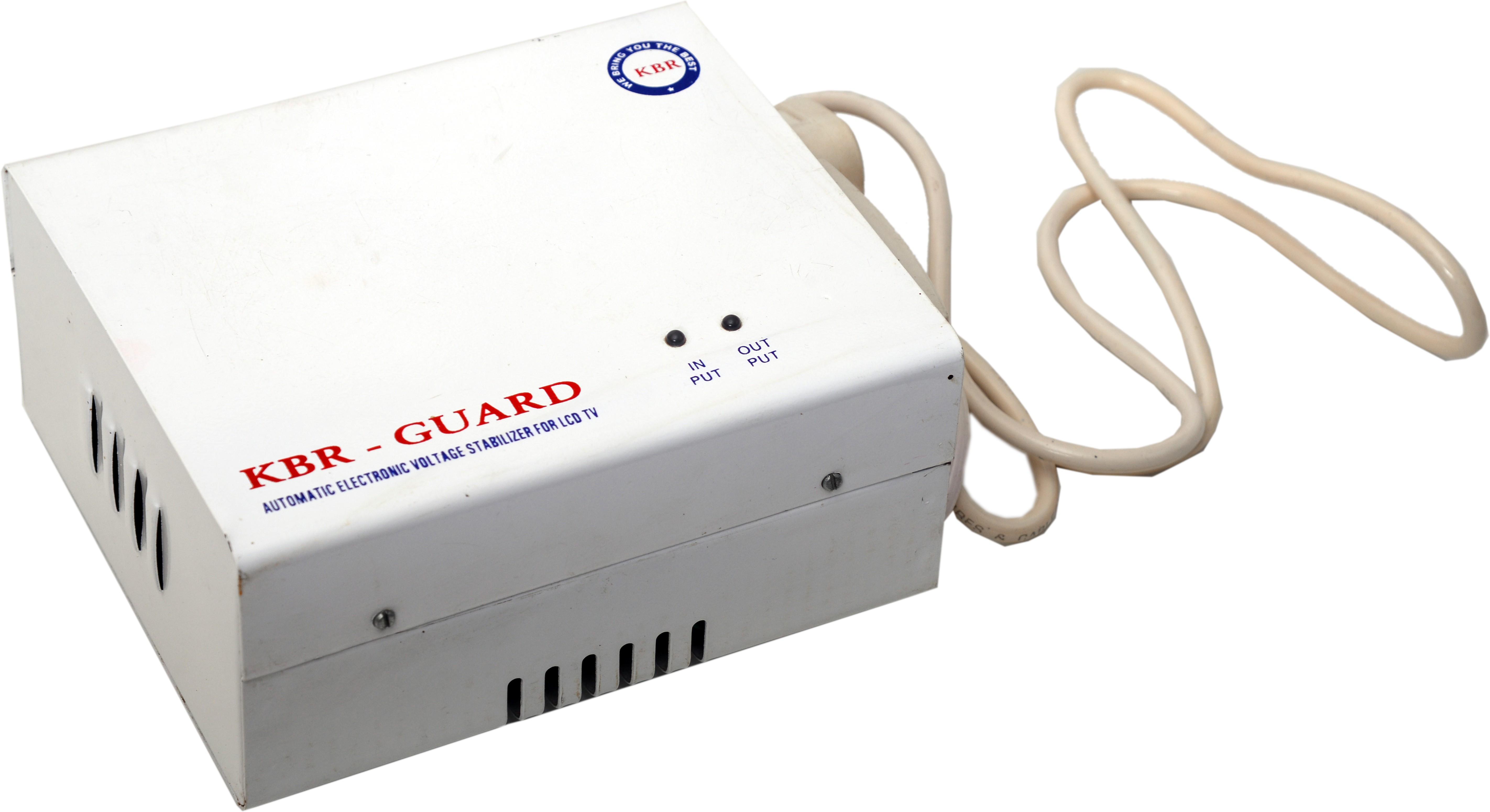 View KBR GAURD KBR-600VA Voltage Stabilizer(White) Home Appliances Price Online(KBR GAURD)