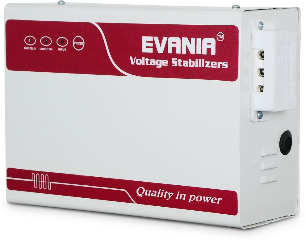 View EVANIA EVS4KVA-EB16 Voltage Stabilizer(White, Maroon) Home Appliances Price Online(EVANIA)