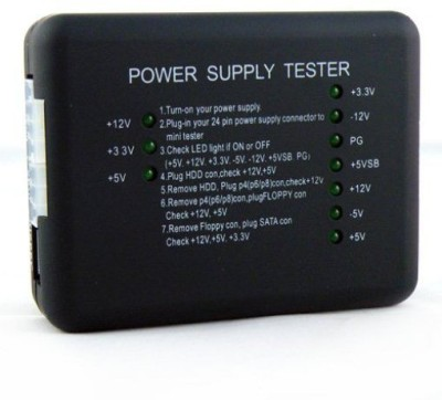 Ophion POWER SUPPLY 20 OR 24 PIN PSU ATX SATA HDD SMPS Analog Voltage Tester