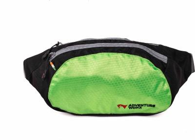Adventureworx Go-X Zero Waist Pouch(Green, Black)