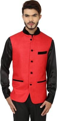 DesiDapper Stylish Make Solid Men's Waistcoat