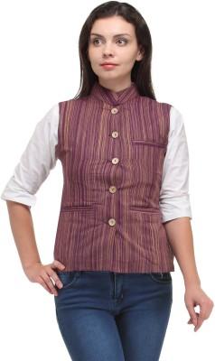 Sobre Estilo Striped Women's Waistcoat